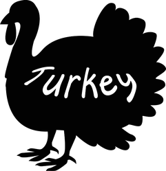 Thanksgiving Turkey Icon With Text Sticker