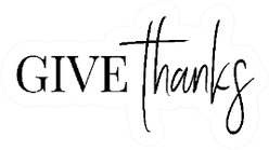 Thanksgiving Typography Give Thanks Lettering Sticker