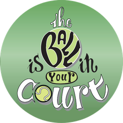 The Ball Is In Your Court Sticker
