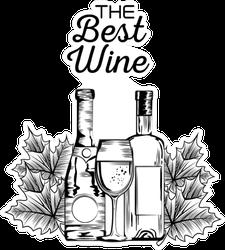 The Best Wine Sticker