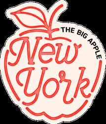 The Big Apple New York Sticker