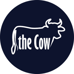 The Cow Text Logotype Sticker