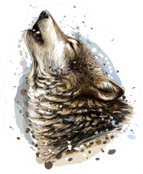 The Coyote Howls Sketch Sticker