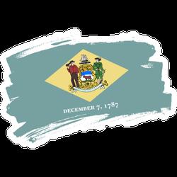 The Delaware State Flag Sticker