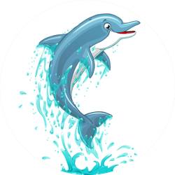 The Dolphin Who Is Jumping Out Of Sea Water Sticker