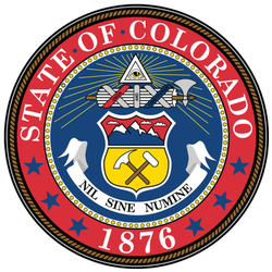 The Federal State Of Colorado 1876 Sticker