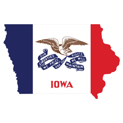 The Federal State Of Iowa Sticker