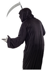 The Grim Reaper Or Death Halloween Costume Sticker