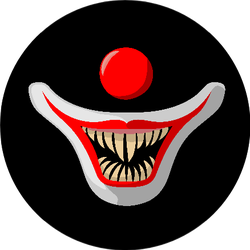 The Muzzle Of A Clown On A Black Background Sticker