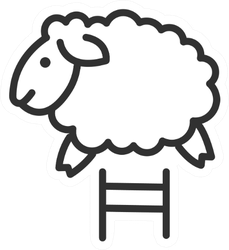 The Sheep Jumps Sticker