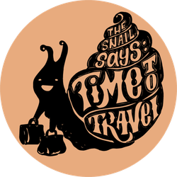 The Snail Says Time To Travel Sticker