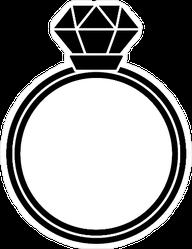 Thin Diamond Ring Sticker