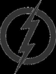 Thin Lightning In Circle Sticker