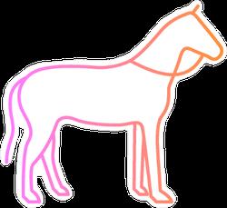 Thin Line Horse Sticker