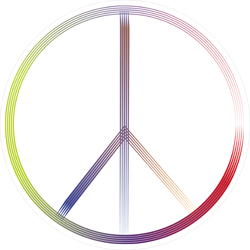 Thin Line Peace Sign Sticker