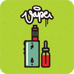 Thin Line Vape Device With Juice Sticker