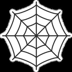 Thin Spider Web Sticker