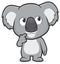 Thinking Koala Sticker