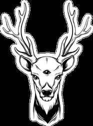Third Eye Boho Deer Sticker