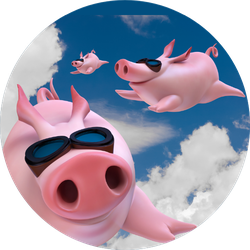 Three Funny Sky Diving Flying Piggies Sticker