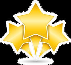 Three Golden Stars Sticker
