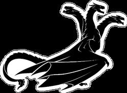 Three Headed Dragon Sticker
