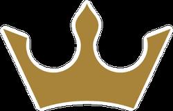 Three Prong Gold Crown Sticker