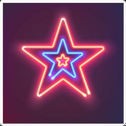 Three Shining Neon Stars Sticker