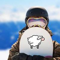 Sheep Icon Logo Sticker