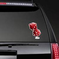 Shiny Red Dices On The White Sticker example