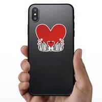 Swan Love Heart Romantic Illustration Sticker example