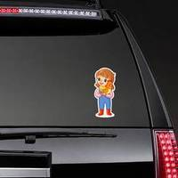 The Farmer Girl Holds A Chicken Sticker example