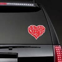 Make Love Heart Hippie Sticker on a Rear Car Window example