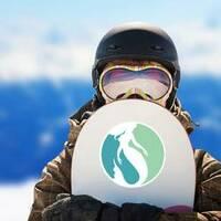 Mermaid Logo Design Sticker on a Snowboard example