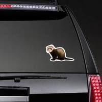 Ferret Sitting And Looking Away Sticker