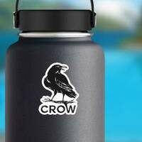 Crow Logo Illustration Vintage Style Sticker