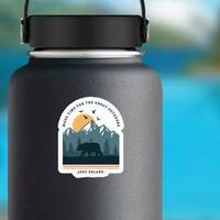 Make Time For The Great Outdoors Sticker on a Water Bottle example