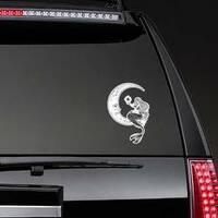Mermaid on the Moon Sticker on a Rear Car Window example
