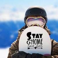 Stay Home Arrow Sticker