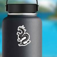 The Embodiment Of Natural Forces Dragon on a Water Bottle example