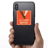 Holding Hands All Lives Matter Square Sticker example