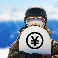 Standard Yen Symbol Sticker on a Snowboard example
