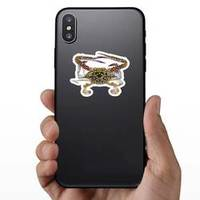 The Flower Crab Or Blue Crab Sticker