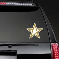 Line Art Gold Star Sticker on a Rear Car Window example