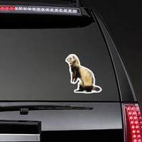 Ferret On His Hind Legs And Looking Away Sticker
