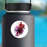 Watercolor Cowboy Sticker on a Water Bottle example