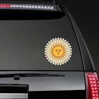 Inca Sun God Sticker on a Rear Car Window example