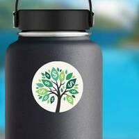 Illustration of Money Tree Sticker on a Water Bottle example
