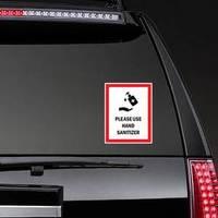 Please Use Hand Sanitizer Symbol Sticker