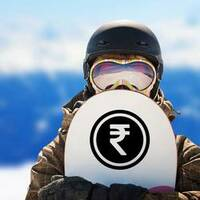Rupee Coin Sticker on a Snowboard example
